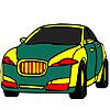 игра Общественная зеленая окраска автомобиля