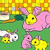 игра Кролики в кухне окраску
