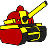 игра Расцветки красный военный танк
