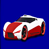 игра Red concept racing car coloring