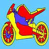 игра Красный гонки мотоцикл колорит