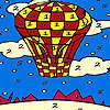 игра Красный летающий шар окраску