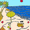 игра Sandcastles on the beach coloring