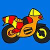 игра Небольшой красочный мотоцикл колорит