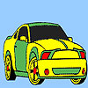 игра Spectacular fast car coloring