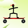 игра Stickman скейтборд велосипед вызов