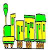 игра Сладкий школа поезд окраски