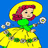 игра Village girl and flowers coloring