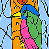 игра Woodpecker in the forest coloring