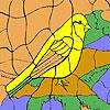 игра Yellow sparrow coloring