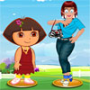 игра Zoe with Dora Dress Up
